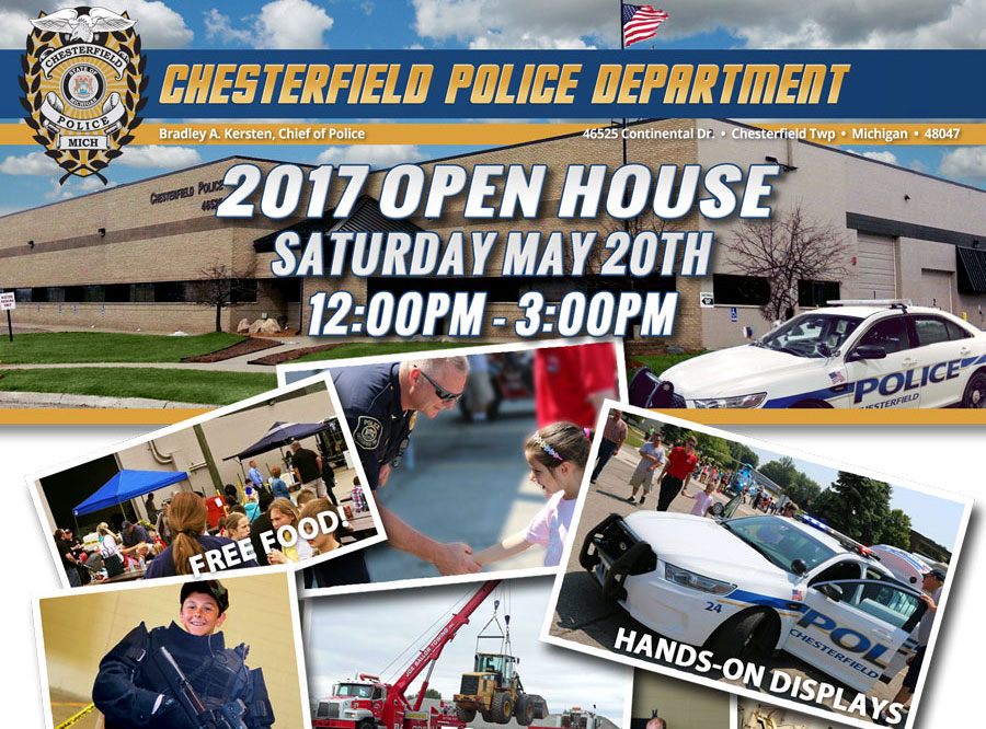 Chesterfield Police Department Open House – Saturday May 20th