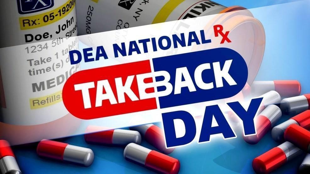 DEA National Prescription Drug Take Back Day – Sat. 10/24