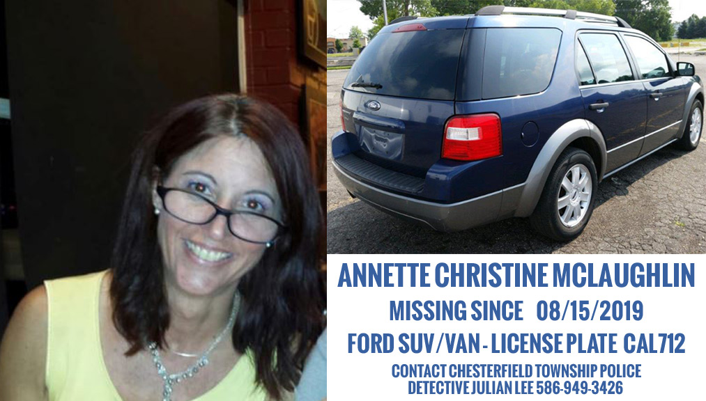 MISSING: Annette Christine McLaughlin