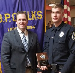 Officer Baker, pictured with his Father Jeff Baker - Chief of Police, Auburn Hills MI