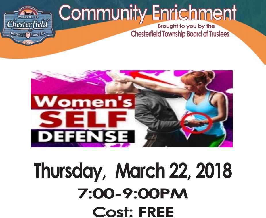 Women's Self Defense Class – Mar. 22