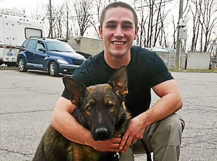 Chesterfield Township's new K-9 cop Viper digs into training